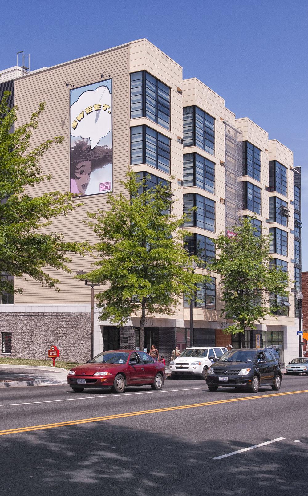 Three Tree Flats  • 130 apartments • Ground floor retail •Petworth, NW Washington, DC