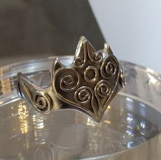 Silver hand-carved ring with wirework detail -  BUY