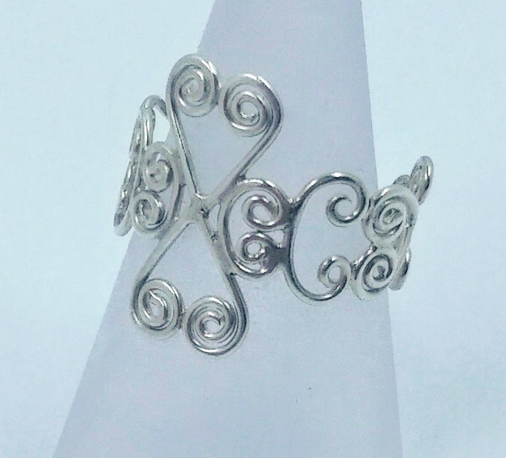 Silver wirework ring
