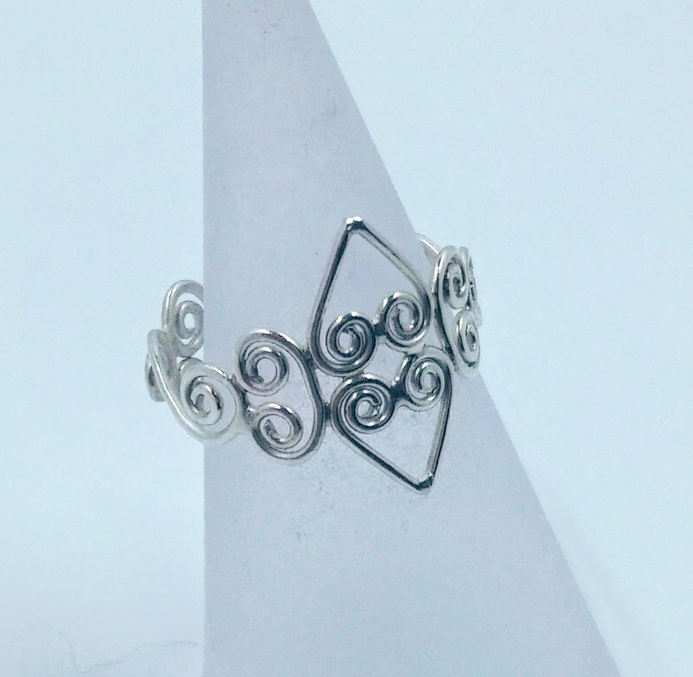 Silver wirework ring -  BUY