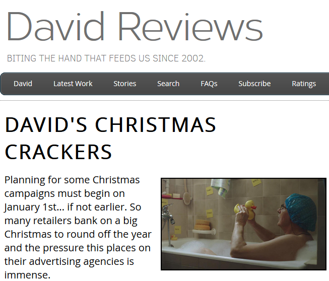 H&M features in David's Christmas Crackers