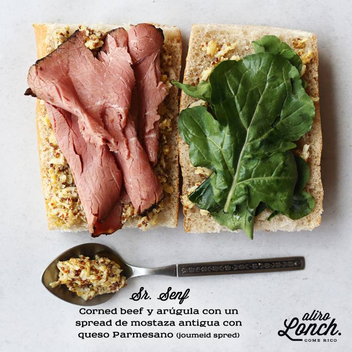 El sándwich Sr. Senf de Aliro Lonch (senf significa mostaza en alemán)