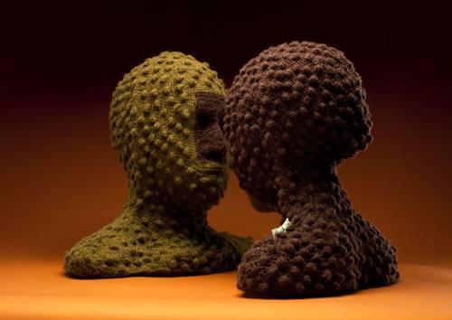 Una de las esculturas de BiDa, la exposición de Zermeño en 2012. Foto: cortesía de la artista.