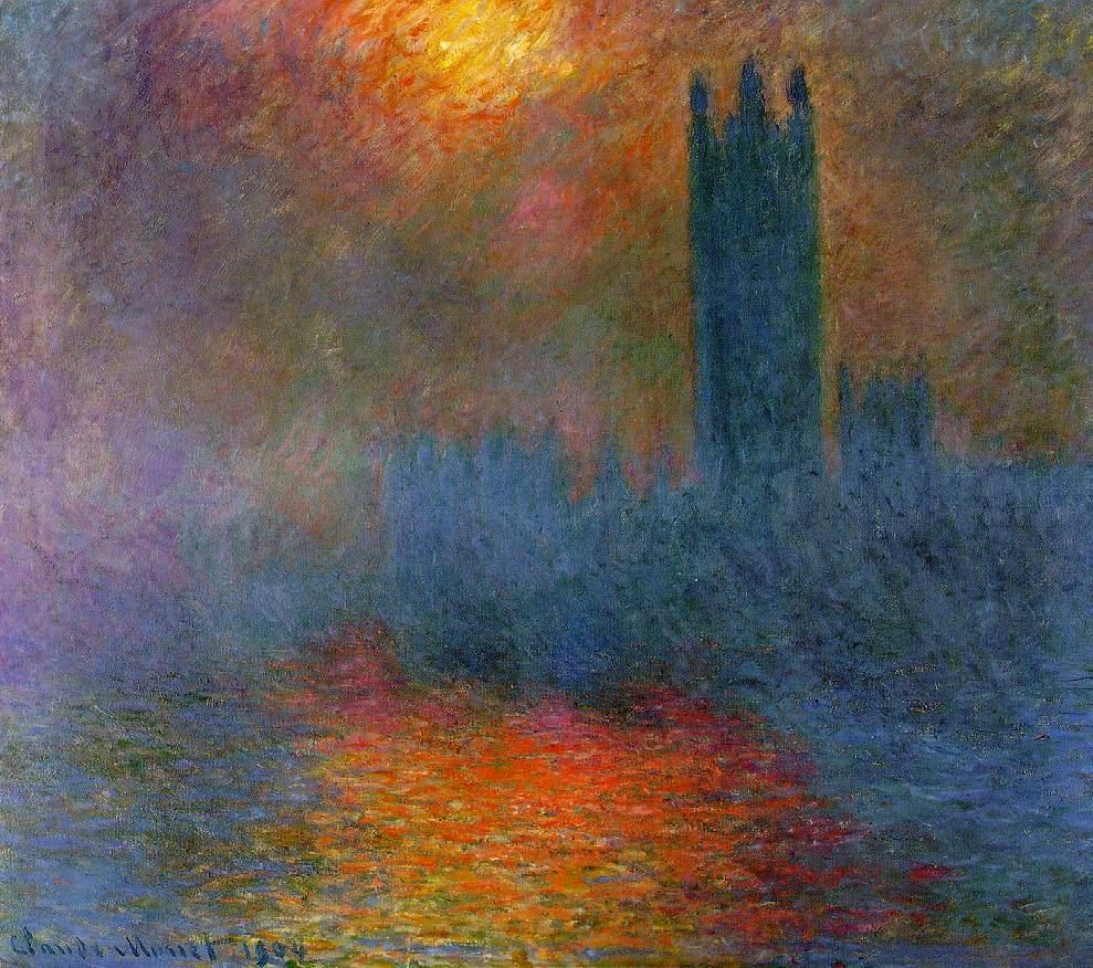 El Parlamento de Londres, uno de mis favoritos de Monet. Se me hacía equis pero gustó mil veces más cuando lo vi en el Museo de Orsay.