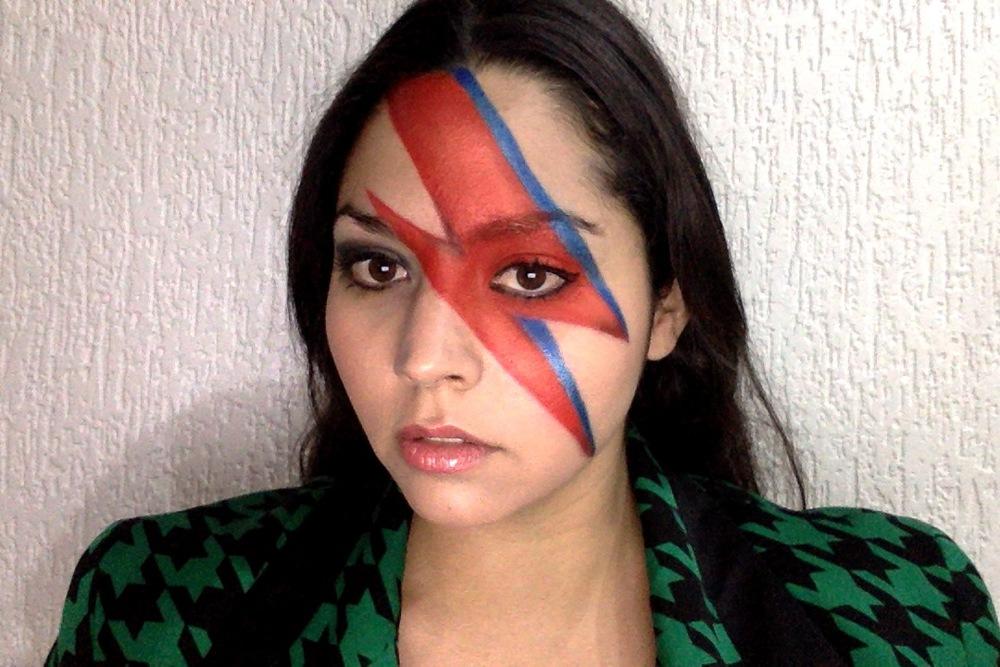 Channeling Ziggy Stardust. Maquillaje por Fabiola y Fer de Sephora Santa Fe.