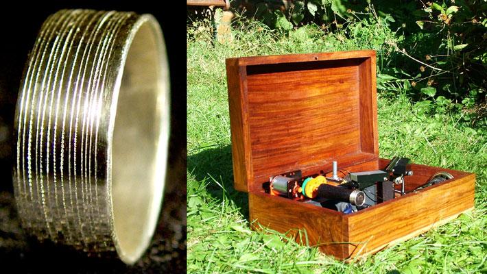 El anillo de compromiso que Luke creó para su ahora esposa.