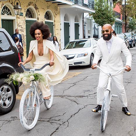 Solange Knowles el día de su boda.