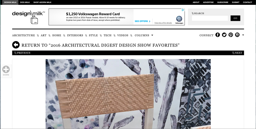 DESIGN MILK: 2016 AD SHOW FAVORITE
