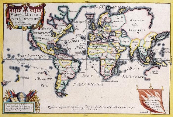 Rosario Fiore, Old Map (54), Nicolas De Fer, c. 1724