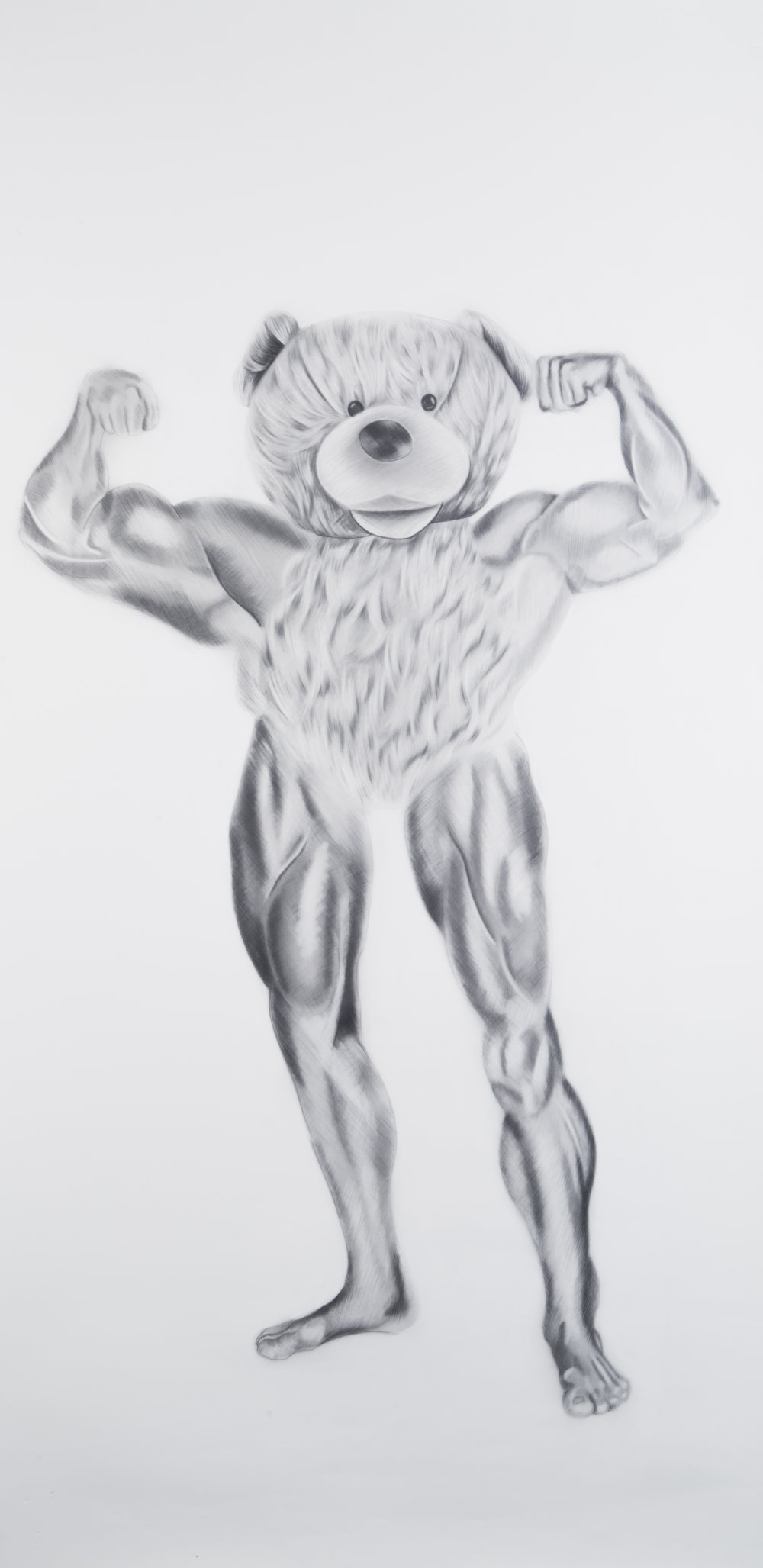 Suns Out Guns Out #2, 24 x 48 inches. Graphite on paper. 2017