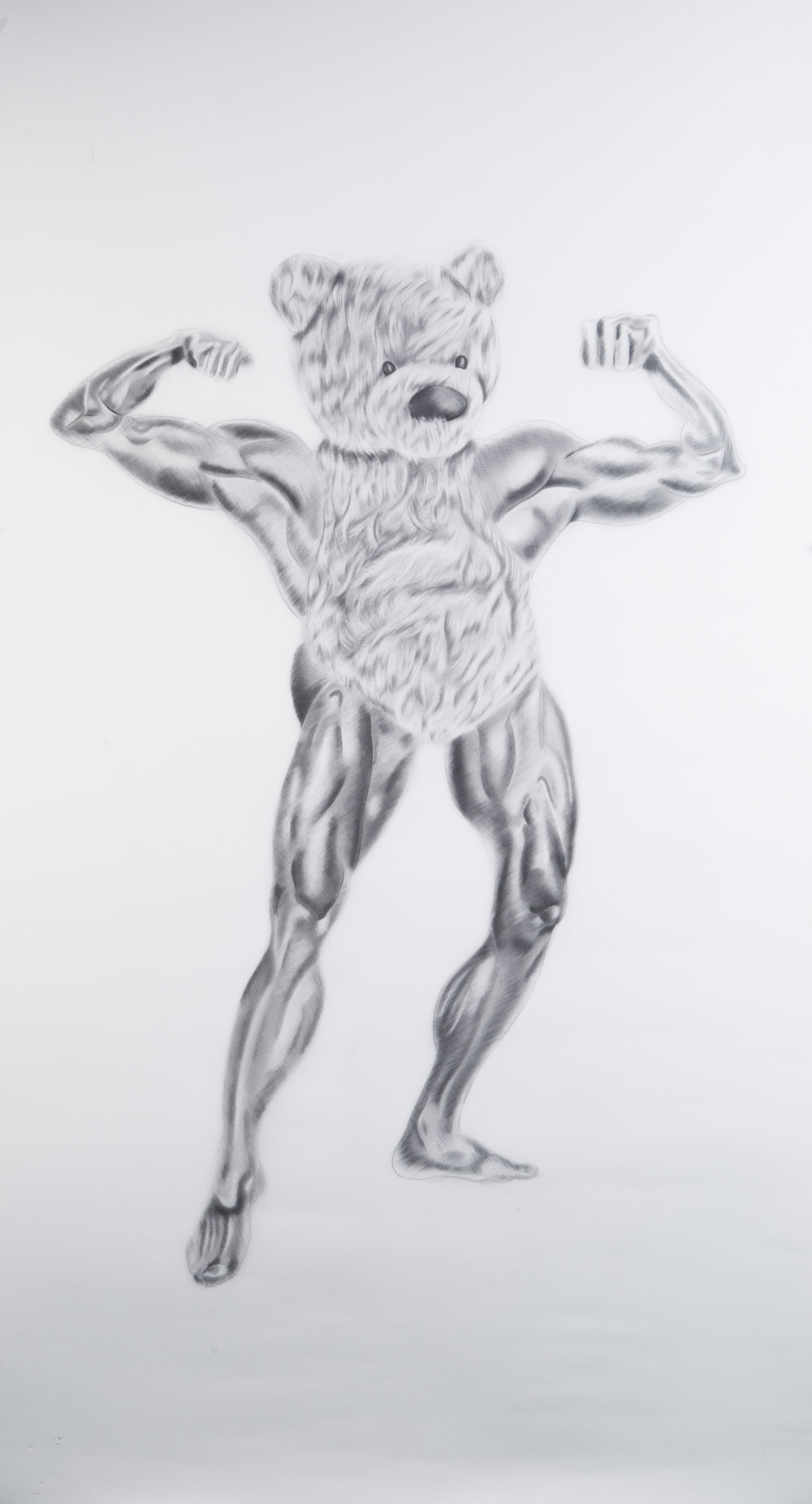 Suns Out Guns Out #1, 24 x 39 inches. Graphite on paper. 2017