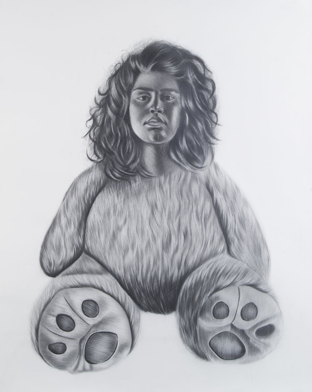 Criatura #1, 22 x 30 inches. Graphite on paper. 2018