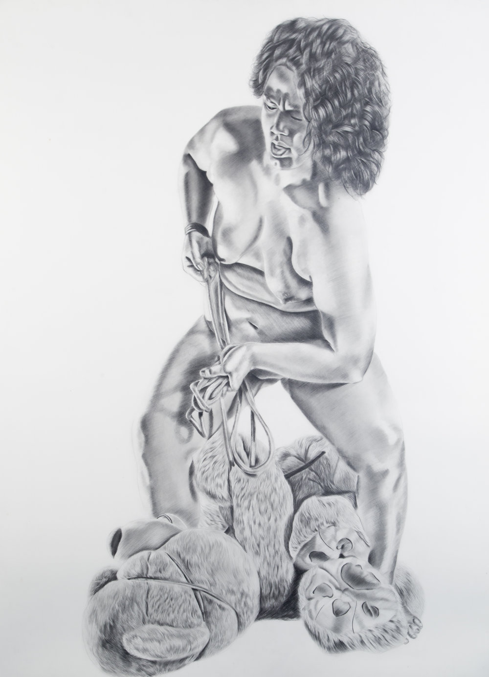 Untititled, 50.25 x 37.5 inches, graphite on paper. 2016