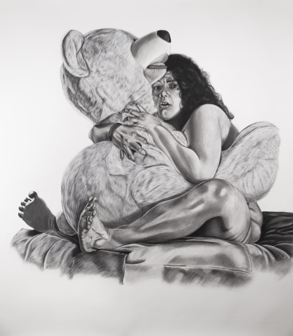 Tu Carcel, 81 x 72 inches, Charcoal on Paper. 2015
