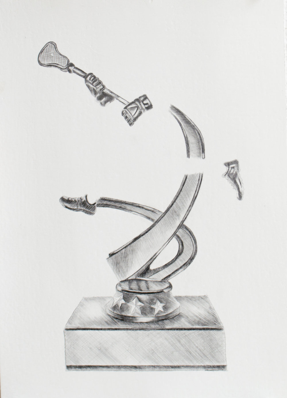 It's a privilege to be able to wake up early and hustle for what you believe in, 9.5 x 13 inches, silverpoint and graphite on paper. 2019