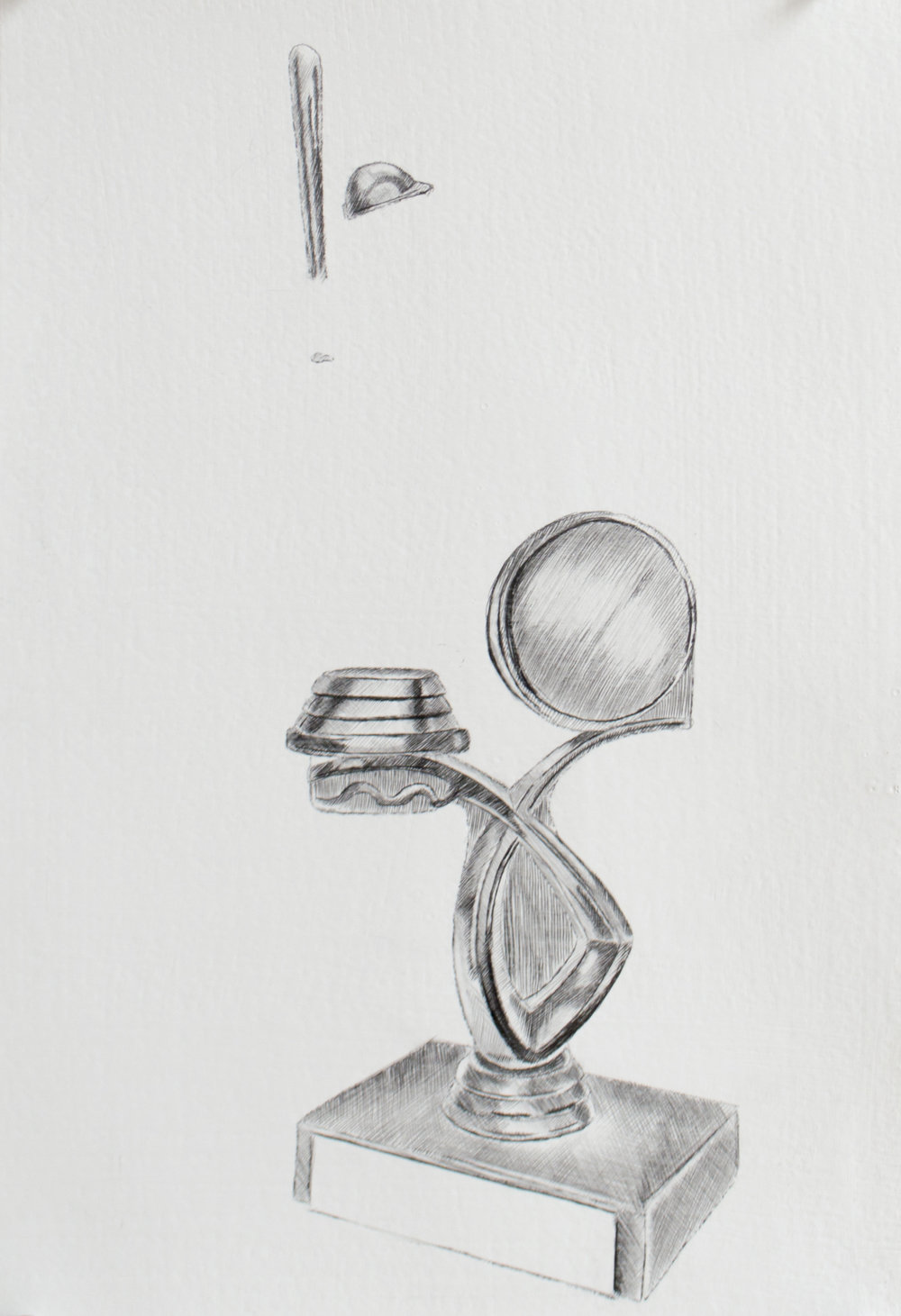 The fact that you aren't where you want to be is motivation enough, 9 x 13.5 inches, silverpoint and graphite on paper. 2019