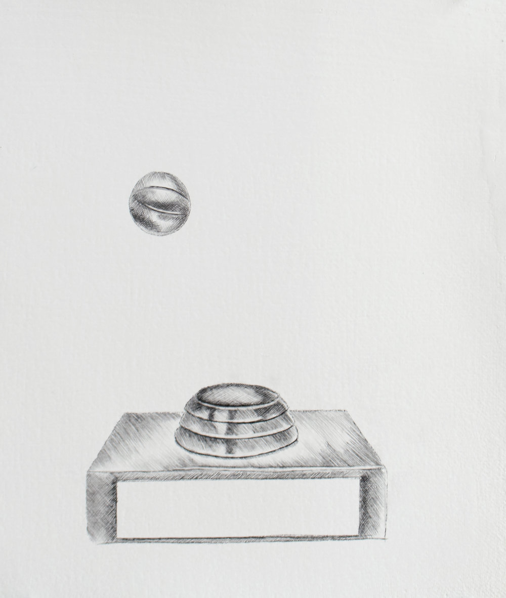 Don't worry about failure, worry about the chances you miss when you don't even try, 11 x 13.5 inches, silverpoint and graphite on prepared paper. 2019