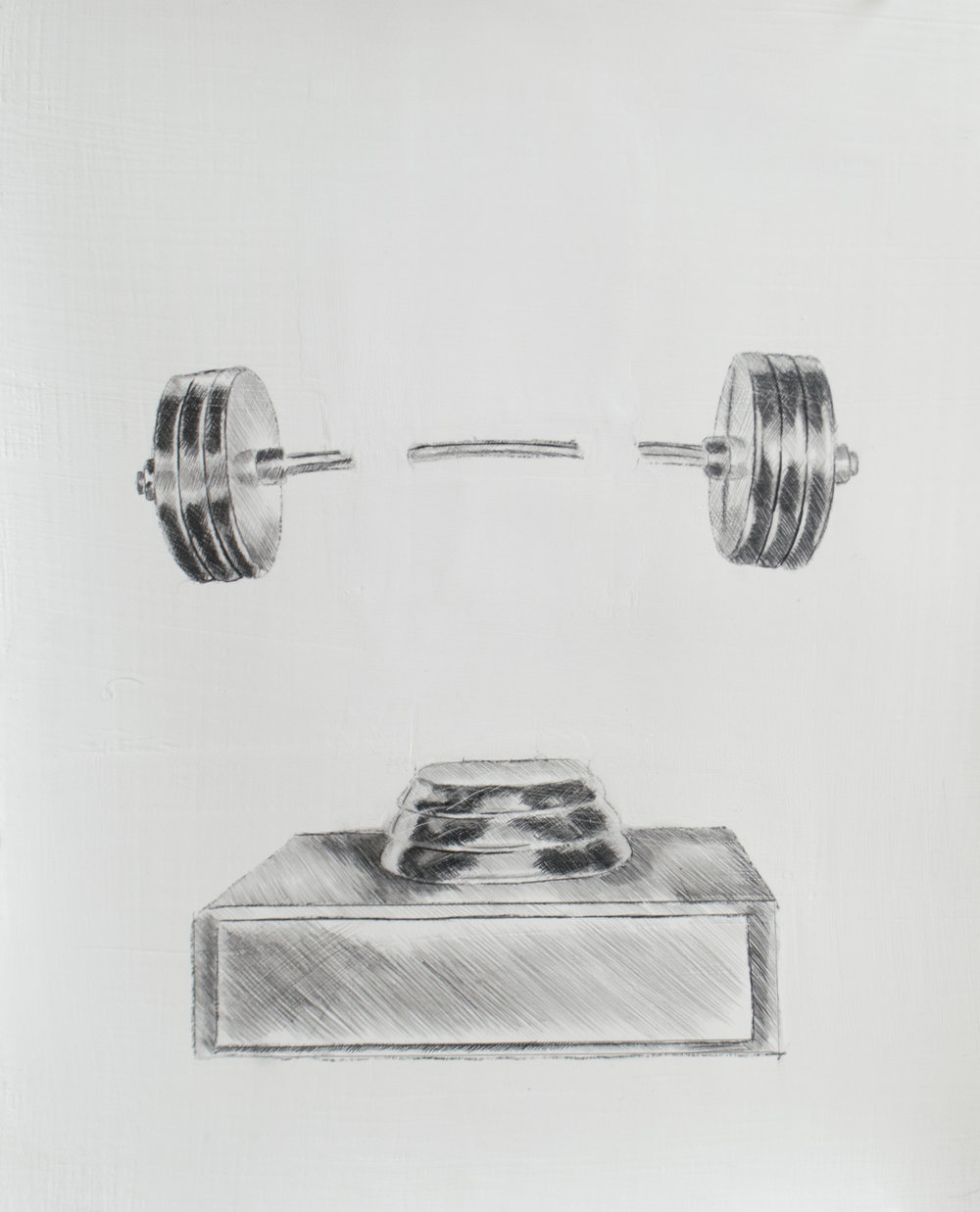 In order to become the 1% you must do what the other 99% won't do, 10.75 x 13.5 inches, silverpoint and graphite on prepared paper. 2019