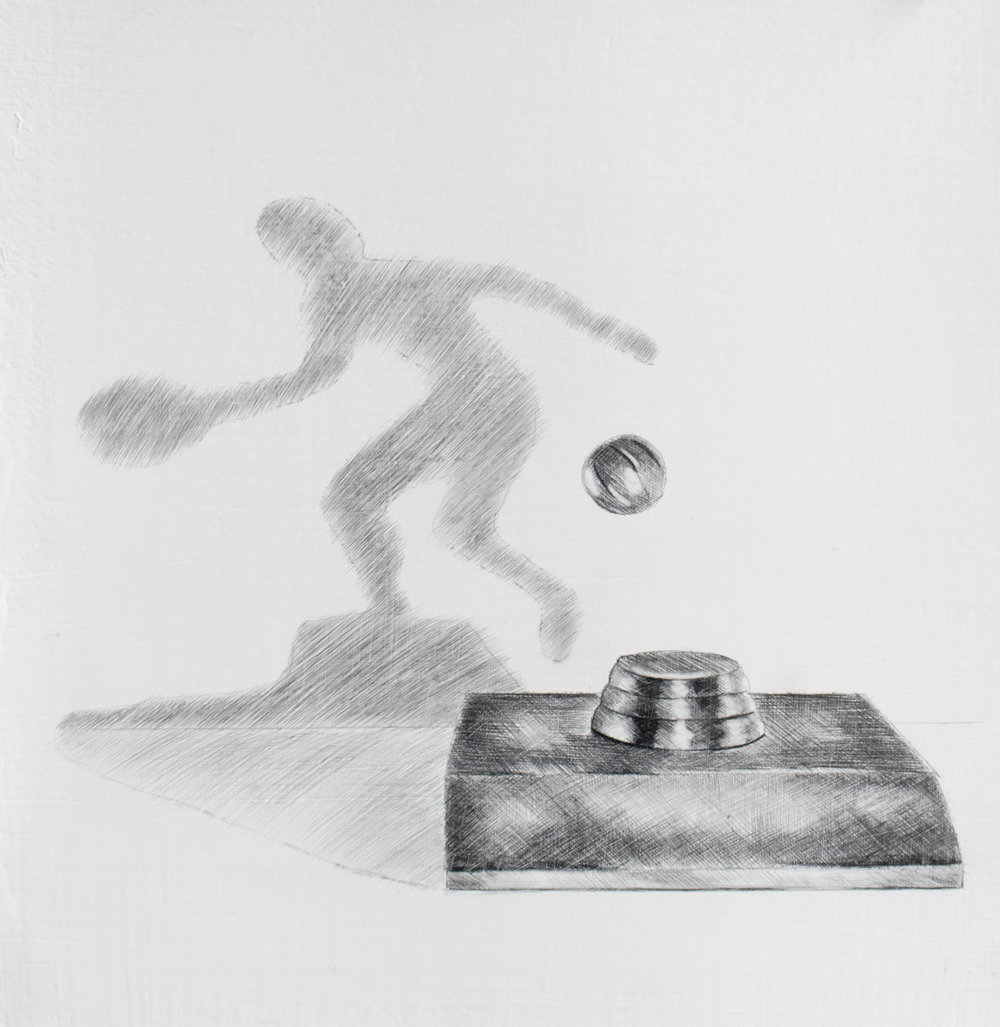 The only thing standing between you and your dreams are the bullshit excuses you keep telling yourself as to why you can't achieve them, 10.25 x 11 inches, silverpoint and graphite on prepared paper. 2019