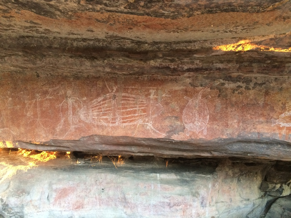 Ancient rock art in Kakadu National Park, outside Darwin /Lynne Oakes