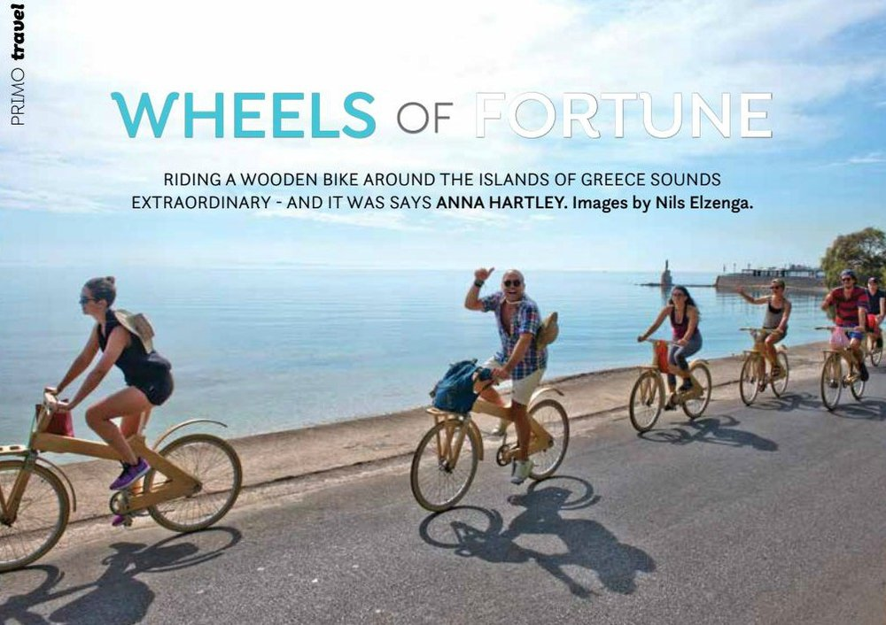 greek wooden bike adventure Wheels of Fortune