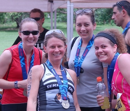 Fun Fact – Frieda (second from the left) came in 7th in her age group!