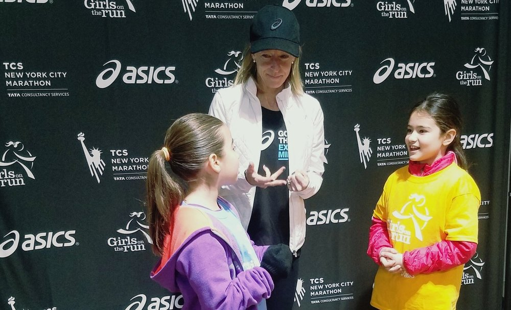 On Monday morning, two of our Girls on the Run got to meet Deena Kastor and tell her about why they are so proud to be in the GOTR Program.