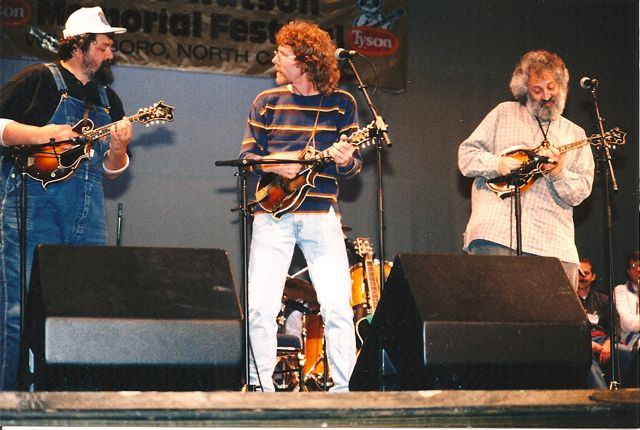 TW, Sam Bush, David Grisman at Merlefest
