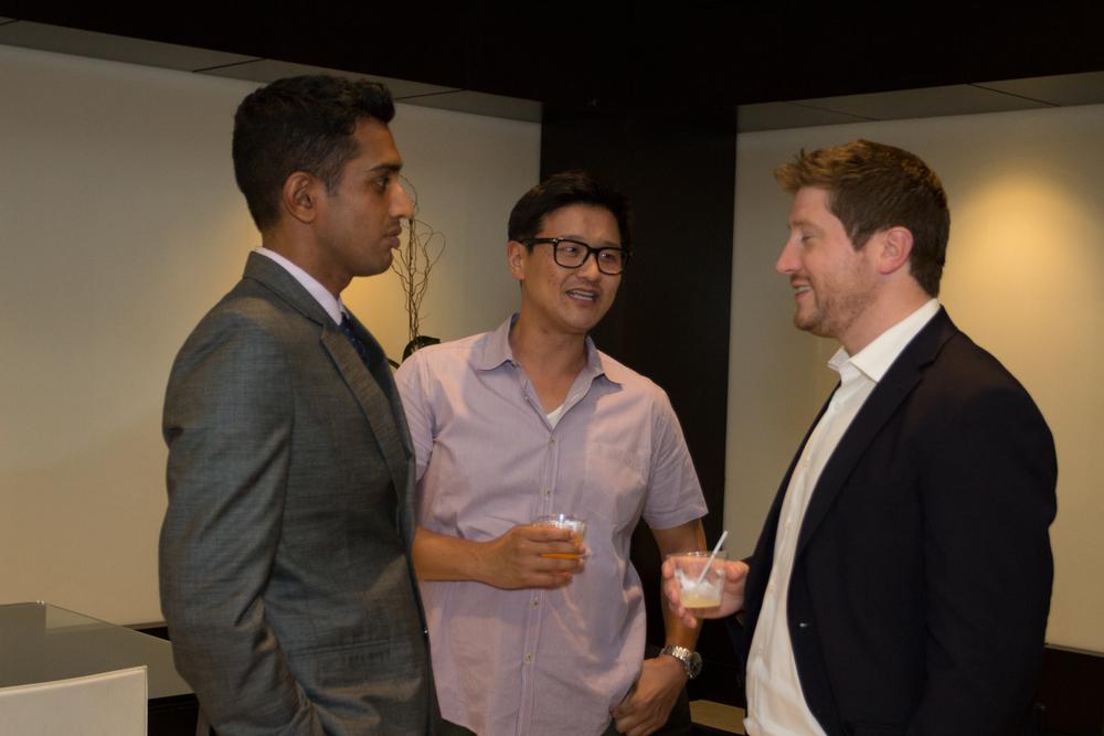 Vikram Arumilli of CAA, Rich Jun of BAM Ventures, & Guest