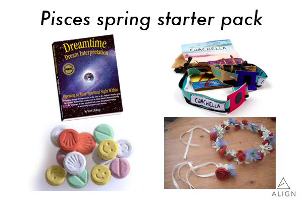 dating a pisces starter pack