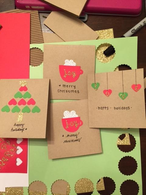 Blushing Joy Events Le Blog Diy Christmas Cards