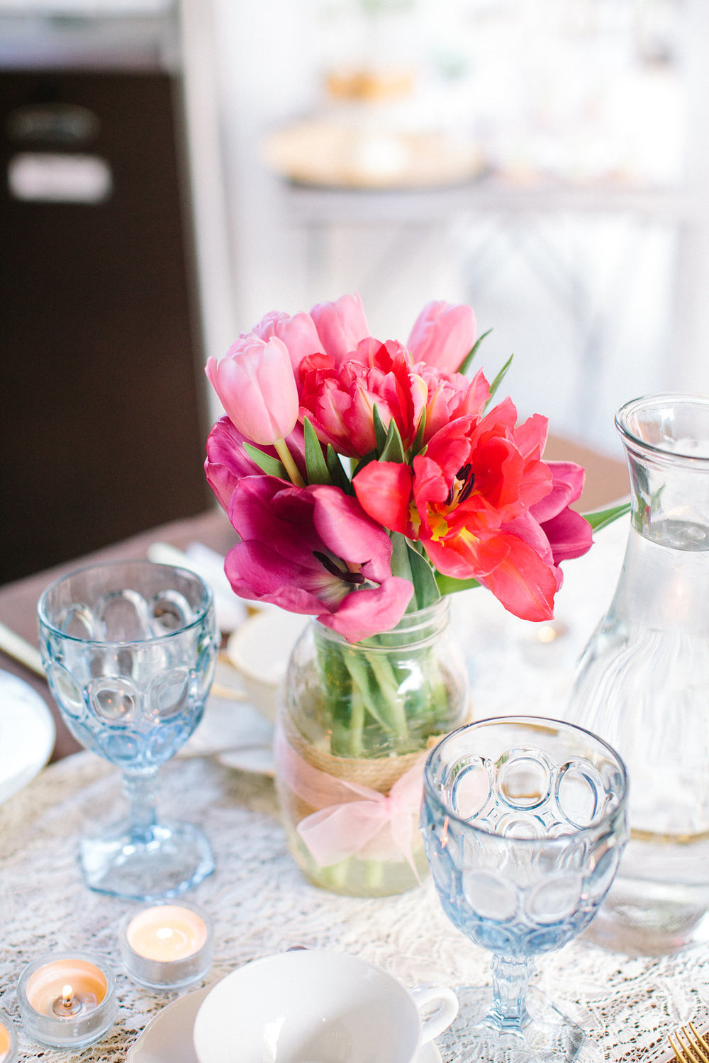 I have to say, I never recognized the beauty of tulips until this bridal shower!