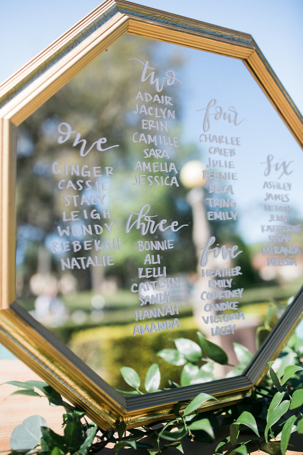Jacksonville Wedding Calligraphy | Epping Forest Yacht Club
