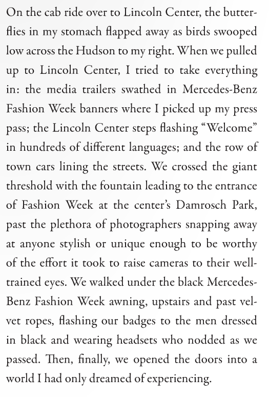 "Excerpt from Vie Magazine Article ""The Couture Baby Inside of Us"" by Whitney Williams"