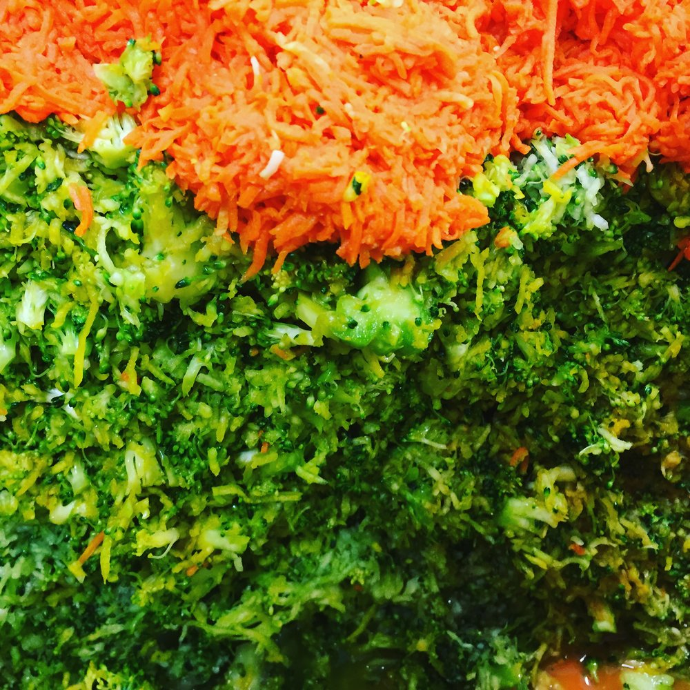 Shredded Broccoli, Carrot, Turmeric, and Ginger