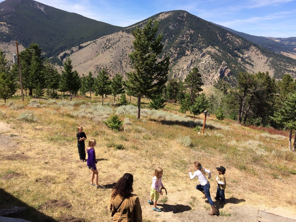 Local Red Lodge children enjoying life on a mountain at the 80th anniversary open house.