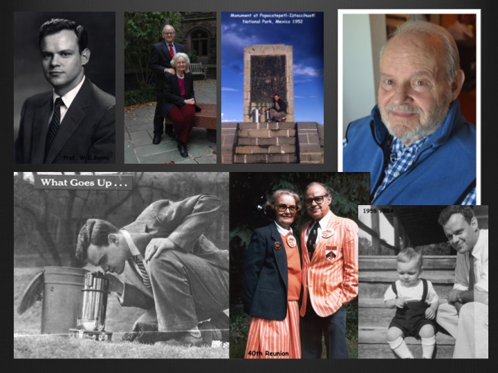Princeton University's memorial collage of Bonini