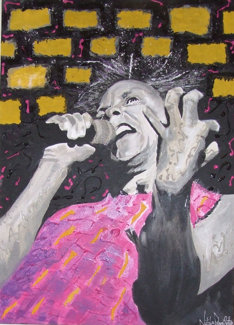 Johnny Rotten -The Sex Pistols -In textured acylic