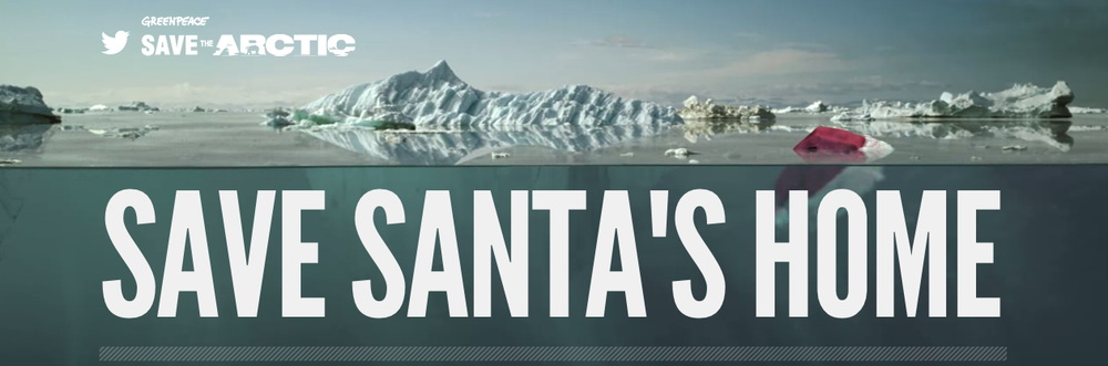 Greenpeace: Save Santa's Home Online Banner
