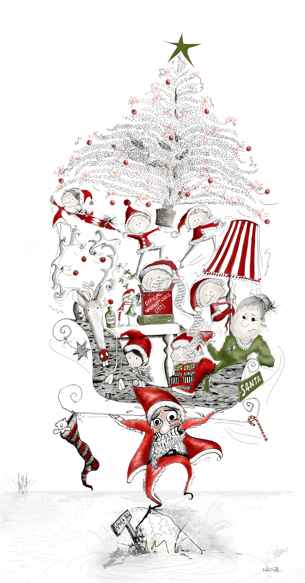 Greenpeace_Save Santas Home -The Last Piece of Ice by Illustrator & Art Director Natalie Sutton