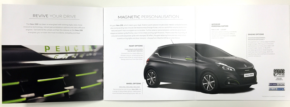 Peugeot textured paint Brochure natalie sutton