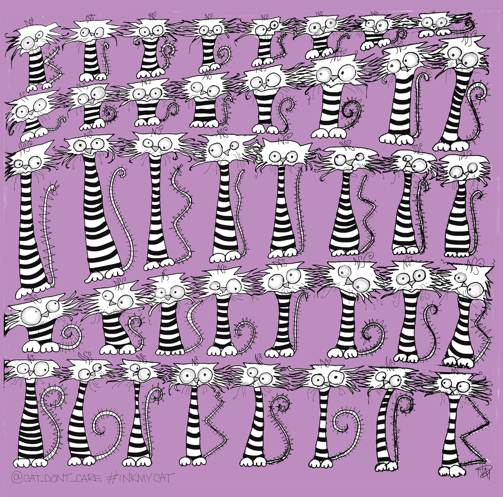 72 larger canvas cats line up -cat_dont_care- natalie palmersutton_art_illustration copy.jpg
