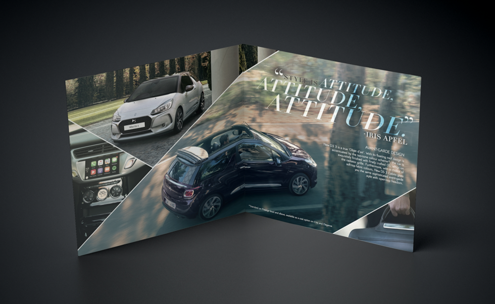 DS 3 LAUNCH DRIVEN BY STYLE NATALIE SUTTON ART DIRECTION ILLUSTRATION P 3-4