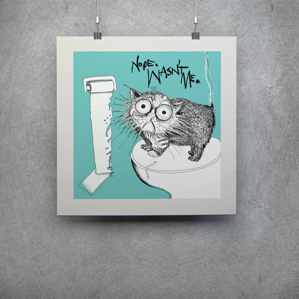 Win a 'Loo Roll Chomper' Medium Limited Edition Print
