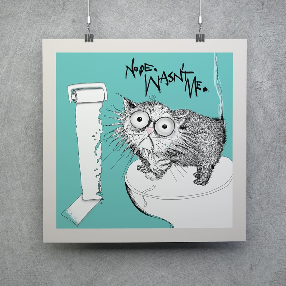 Win a 'Loo Roll Chomper' Large Limited Edition Print