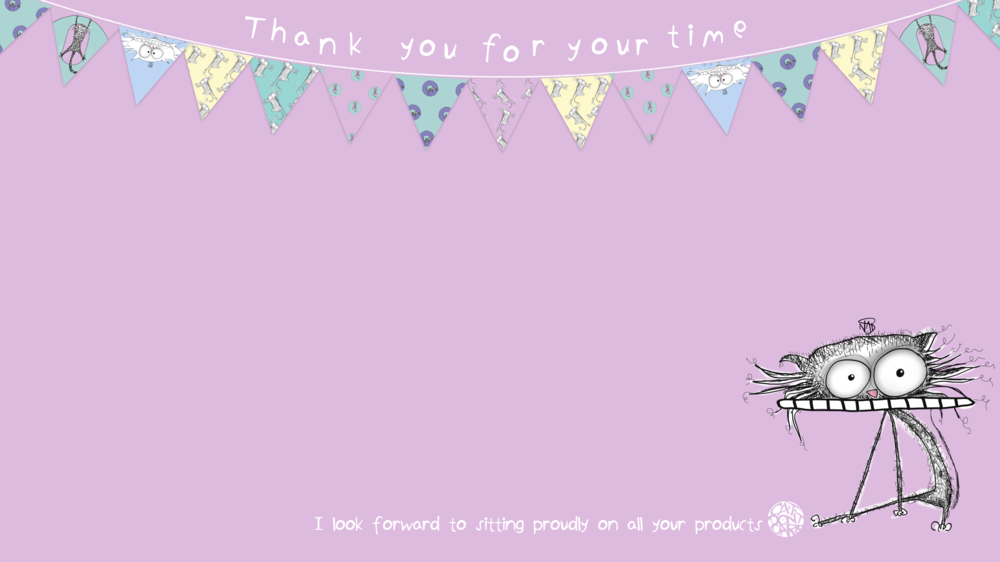 CAT DONT CARE | THANK YOU | LICENSING | NATALIE PALMER SUTTON | ILLUSTRATION | GIFTS FOR CRAZY CAT LOVERS