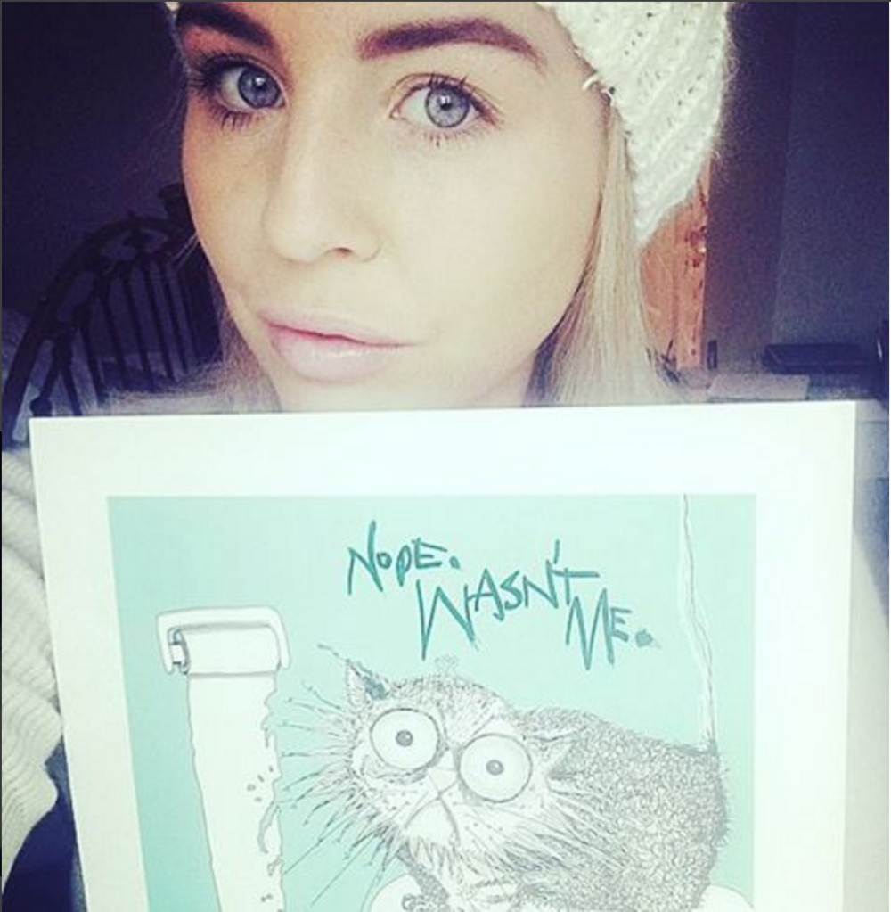 Lydia Bright & Cat Don't Care limited Edition print | Natalie Palmer Sutton Illustration