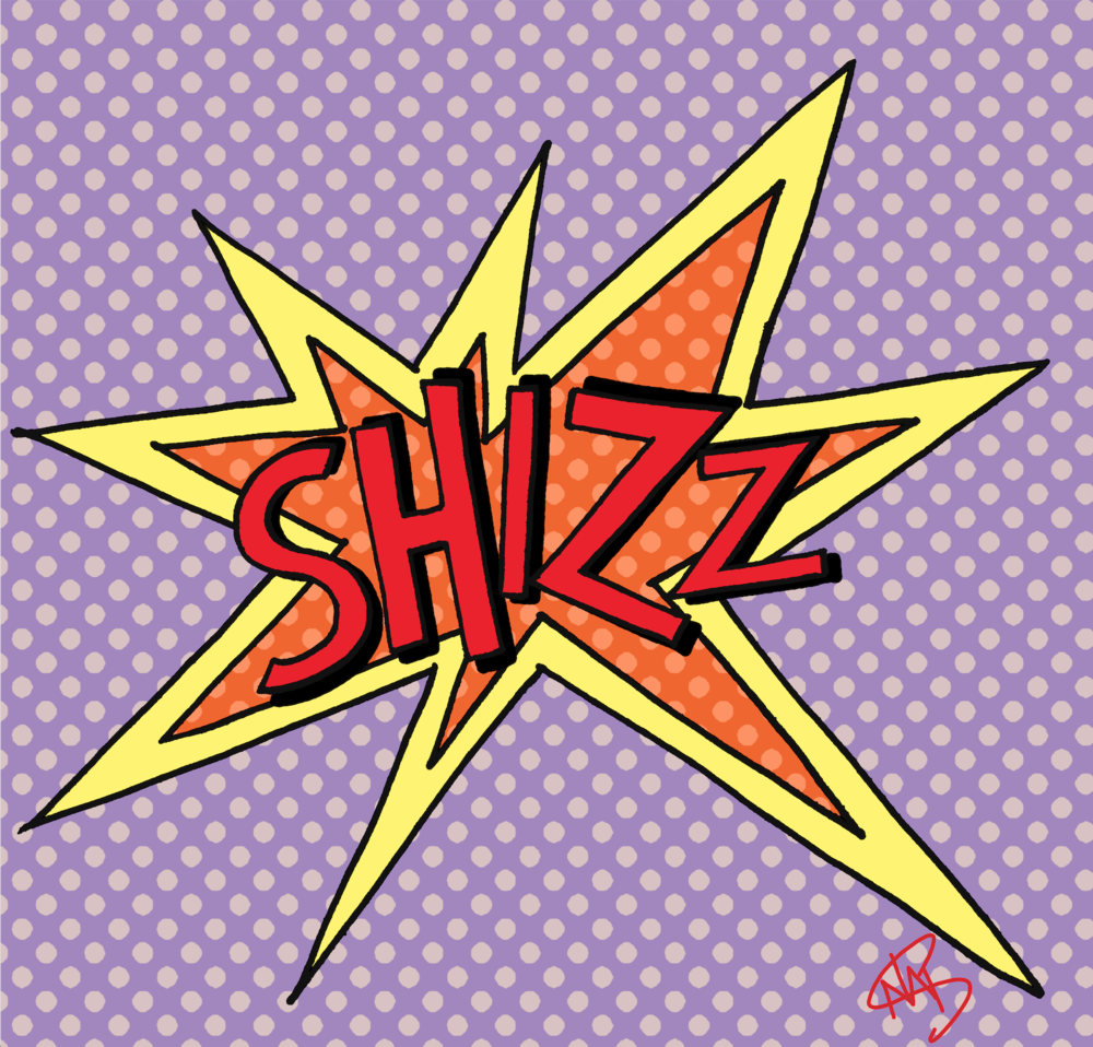 POP ART STYLE SHIZZ LETTERS | NATALIE PALMER SUTTON HAND TYPOGRAPHY | ILLUSTRATION