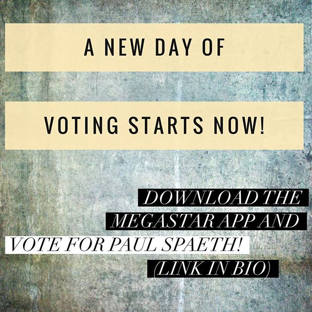 I'm 2nd place!!! . Please help me get to 1st by: . . 1.  Downloading the Megastar app (link in bio) 2.  Search for Paul Spaeth 3.  Click on the song below my profile and vote! . . VOTE EVERY DAY, and SHARE with friends and family! Daily votes will compound and put me at the top.