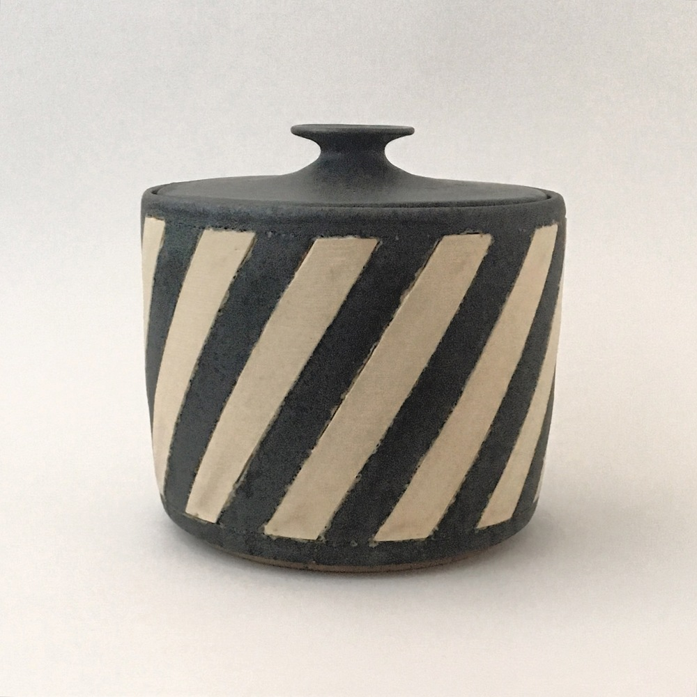 White Stripe Jar